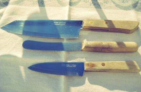 Seglerküche Messer beim Segeln