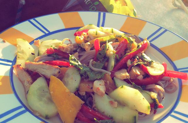 Bordrezept Segeln Thai Salat