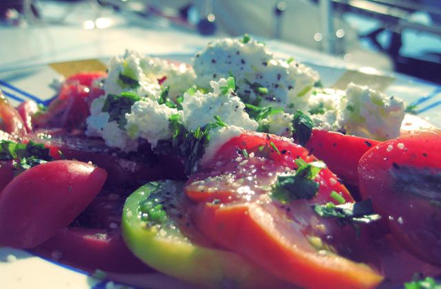 Tomaten. Was kochen beim Segeln