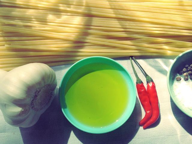 Segeln kochen Aglio et Olio