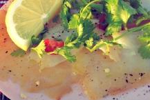 Räucherfisch Carpaccio