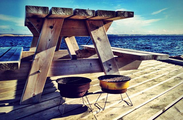 Typisch Dänemark: freie Picknick-Tische. Wer suchet, der findet.
