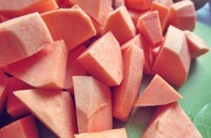Süßkartoffelstampf Segelrezept Kombüse