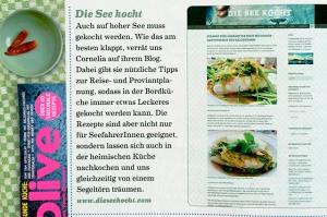 Die See kocht Segelblog in der Presse