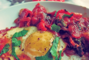 shakshouka, Bordrezept Frühstück