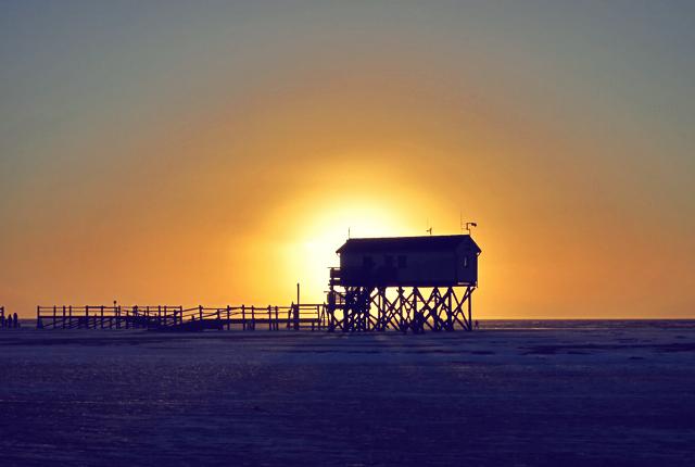 SPO Pfahlbau Sonnenuntergang