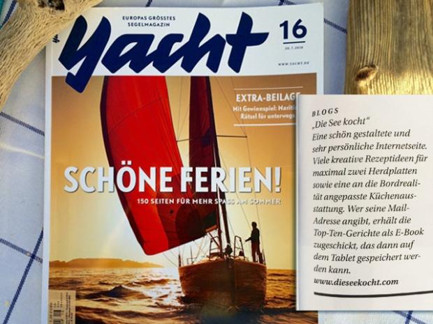 Kochen an Bord, Leseempfehlunf Yacht 16/2016 Die See kocht