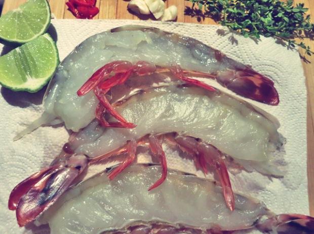 Karfreitags Fisch Garnelen Halbiert
