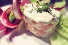 Lachs Tatar mit Wasabi Creme Segelrezept Kombüse