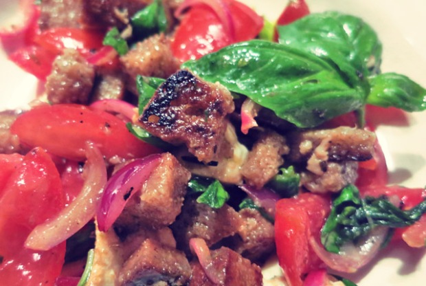 Panzanella toskanischer Brotsalat Segelrezept Resteverwertung