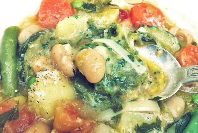 Soupe au pistou auf Löffel Segelrezept