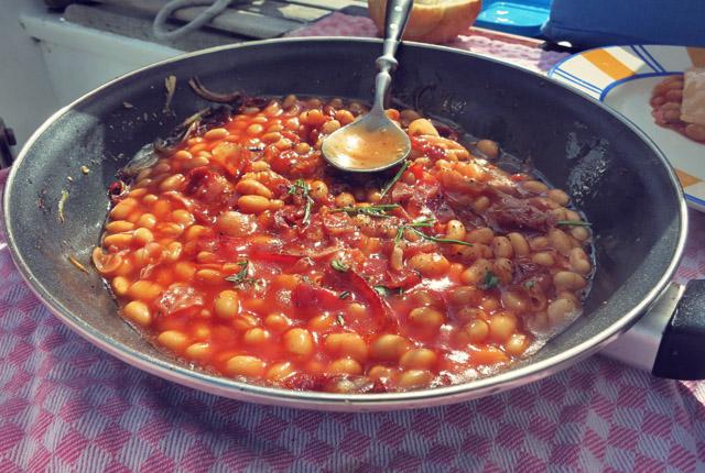 Deftiges Frühstück Baked Beans