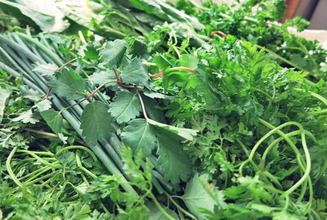 Grüne Soße, mit sieben Kräutern