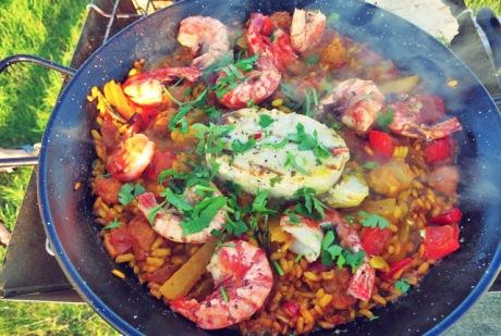 Paella rezept Segeln Camping Kombuse Outdoor