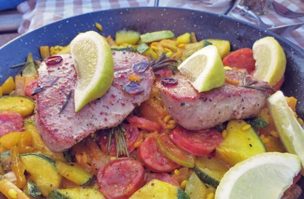 Paella Risotto Segelrezept für die Kombüse