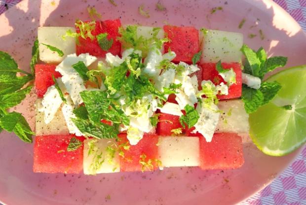 Wassermelonen Salat- Sommerliches Rezept für die Kombüse