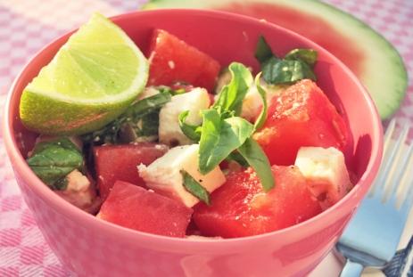 Meloenen Sommersalat Segeln Kombüse Boot