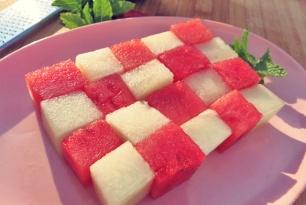 Melonen Sommersalat Segeln Kombüse Boot