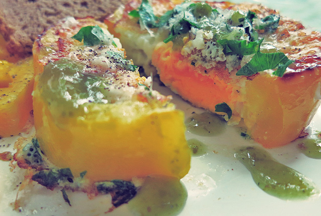 Was kochen beim Segeln: Eier mit Paprika