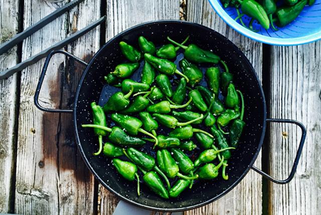 Pimientos. Was kochen beim Segeln BBQ oder Outdoor