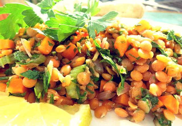 Linsen salat orientalisch