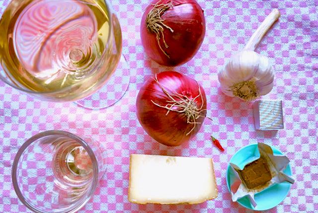 Zwiebelsuppe Bord-Rezept aus Basis Proviant