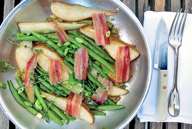 Birnen Bohnen Speck Bordküche Segelrezept