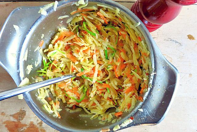 Kartoffelpuffer Gemüsepuffer Rezept Bordküche