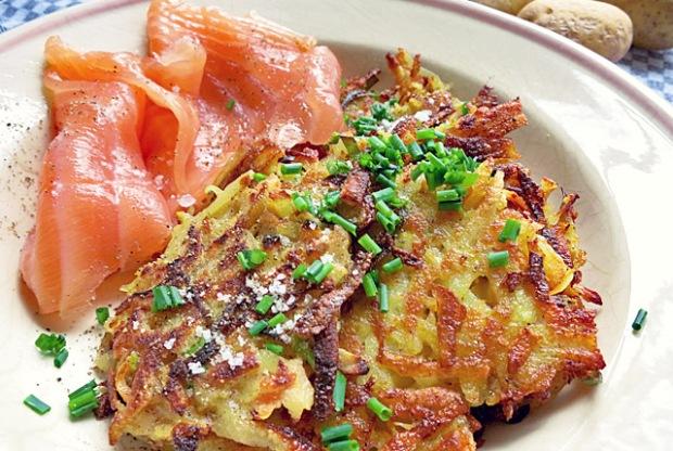 Gemüsepuffer Kartoffelpuffer Segel-Rezept Bordküche