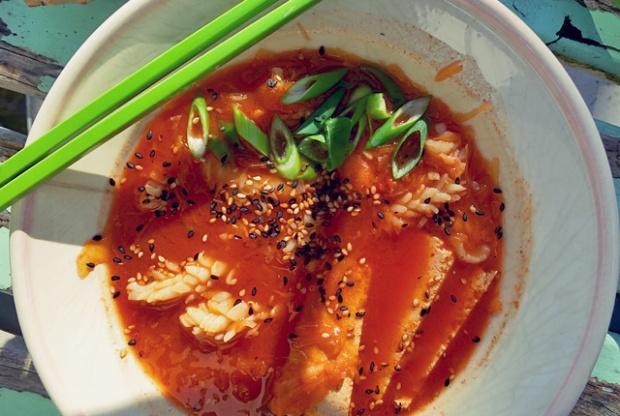 Kimchi Suppe schnelle Bordküche Segelrezept