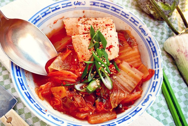 Kimchi Eintopf mit Tofu extrascharf, Bordrezept Segeln