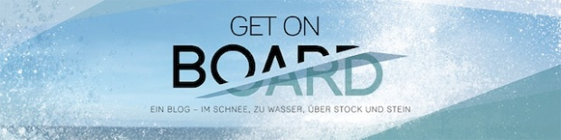 Get on Board Logo mit Claim Segelrezepte Kochen an Bord