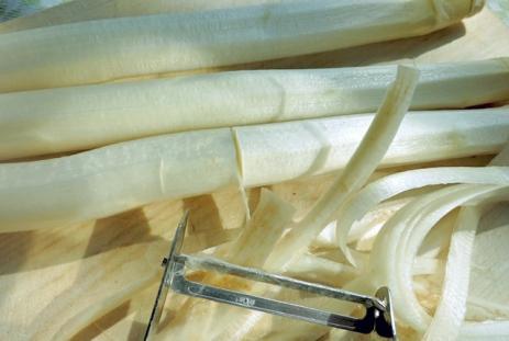 Spargel Carpaccio, Kochen an Bord Segeln