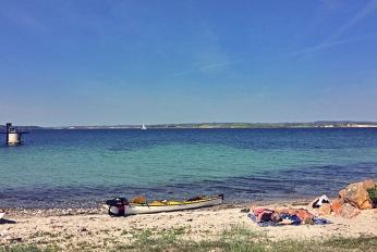 Avernakö Strand am Hafen, Dänsiche Südsee