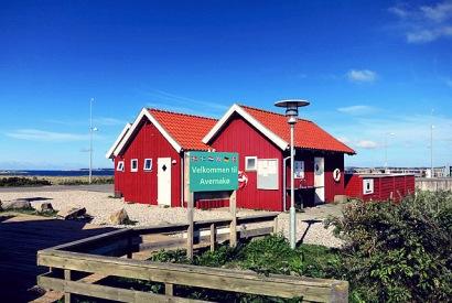 Avernakø dänische Insel Hafenhäuschen
