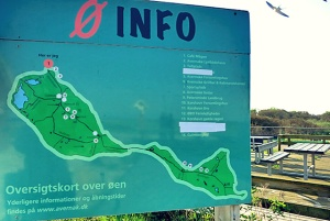 Karte von Avernakø Insel Info im Hafen