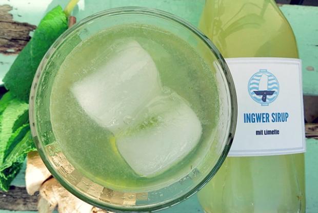 Rezepte gegen Seekrankheit Ingwer Limo mit Minze
