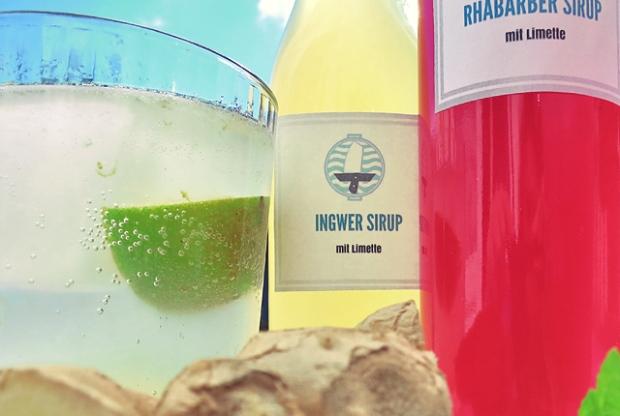 Segelrezepte Die See kocht Ingwer und Rhababerlimonade