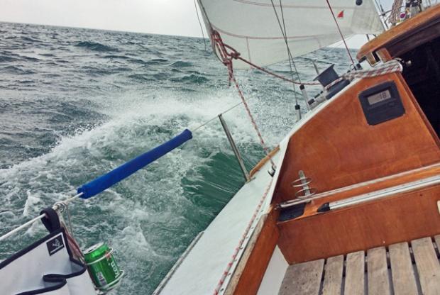 Waarschip 725 auf der Ostsee Segeln und Kochen