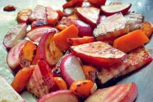 Kombüsenküche: Linsensalat Gemüse angebraten