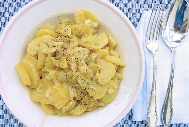 Kartoffelsalat ohne Salmomellen Essig und Öl