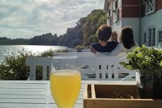 Seglertreff: Dyvig Badehotel Terrasse