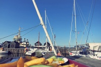 Strib Fisk Essen to-go im alten Hafen
