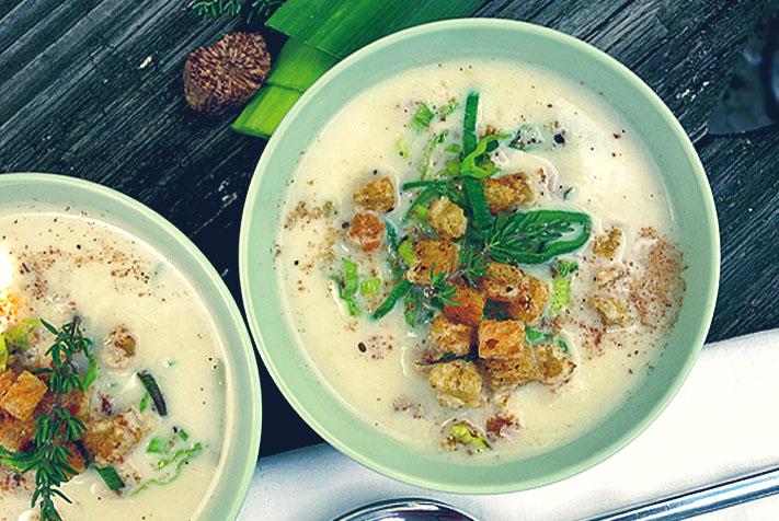 Kalte Sommerküche : Sommerküche an bord vichyssoise u kalte lauch kartoffel suppe to