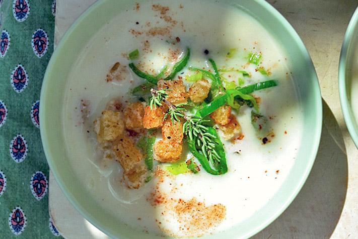 Sommerküche Ohne Kochen : Sommerküche an bord vichyssoise u kalte lauch kartoffel suppe to