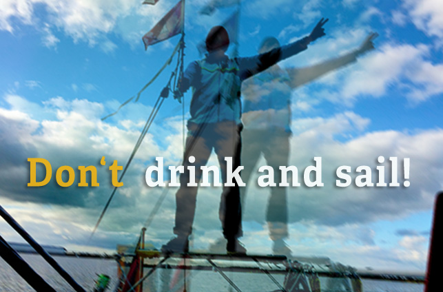 Alkohol an Bord: Don't drink and sail