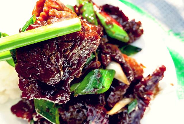 mongolisches beef aus flanksteak es gibt endlich fleisch