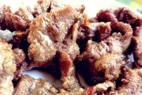 Mongolisches Flank Steak gebraten