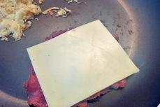 Reuben Sandwich Käse und Kraut