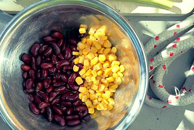 Haltbarer Proviant: Mais und Bohnen für Segel-Rezepte